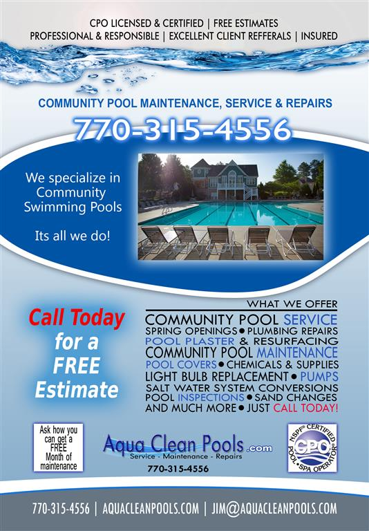 Pool service ad Travel Caribbean Facebook Flyer 2w Ad2 medium Commercial Swimming Pool Service Cumming Ga